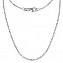 SilberDream Ankerkette fein 925er Silber Halskette 55cm Kette SDK21155