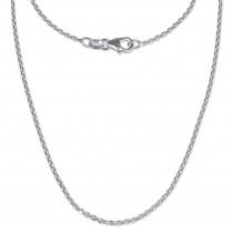 SilberDream Ankerkette fein 925er Silber Halskette 90cm Kette SDK21190