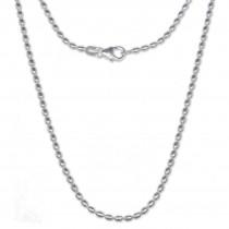 SilberDream Olivenkette 925er Silber Halskette 70cm Kette SDK21370