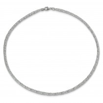 SilberDream Collier Kette Gitter 925er Silber Damen 50cm SDK2195J