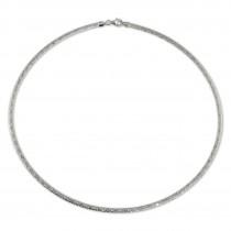 SilberDream Collier Kette Muster 925er Sterling Silber Damen 42cm SDK22942J