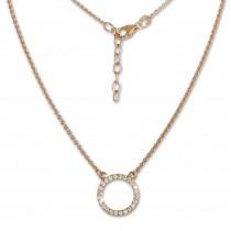 SilberDream Collier Kette rosevergoldet Zirkonia rund 925er Damen 45cm SDK28642E