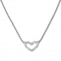 SilberDream Collier Herz Kette Zirkonia weiß 925er Silber Damen 42cm SDK29142J