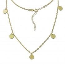 SilberDream Halskette Orient 925er Sterling Silber vergoldet Kette SDK29538Y