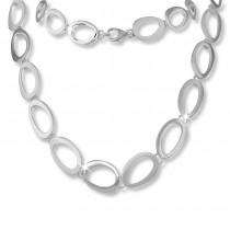 SilberDream Collier Kette Oval offen 925 Silber 45cm Halskette Damen SDK433