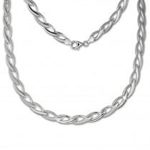 SilberDream Collier Kette Zopf 925er Silber 44,5cm Damen Halskette SDK438J