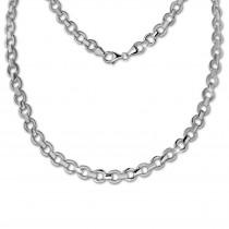SilberDream Collier Kette rund 925 Silber 44cm Halskette SDK439J