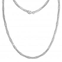 SilberDream Collier Kette Glamour 925er Silber 45,5cm Damen Kette SDK443J