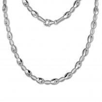 SilberDream Collier Oval Zirkonia weiß 925er Silber 44,5cm Halskette SDK444W