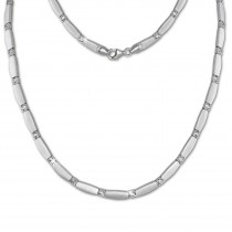 SilberDream Collier Kette matt Zirkonia weiß 925er Silber 45cm SDK447W