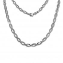 SilberDream Collier Kette Oval 925 Sterling Silber 44,5cm Halskette SDK455J