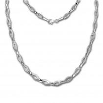 SilberDream Collier Kette Outline 925 Sterling Silber 45cm Halskette SDK456J
