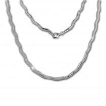 SilberDream Collier Welle Zirkonia weiß 925er Silber 44cm Halskette SDK461W