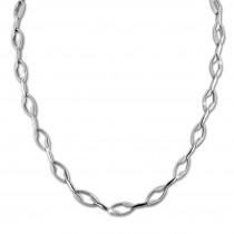 SilberDream Collier Kette Ranke 925er Silber 45cm Damen Halskette SDK465J