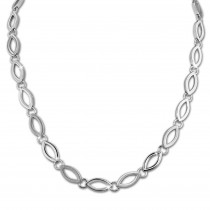 SilberDream Collier Kette Oval 925er Silber 44cm Damen Halskette SDK466J