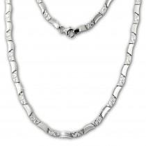 SilberDream Collier Kette Wave 925er Silber 45,5cm Damen Halskette SDK477J
