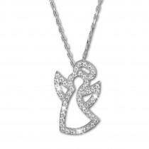 SilberDream Halskette mit Anhänger Engel Zirkonia 44,5cm 925er Silber SDK4985W