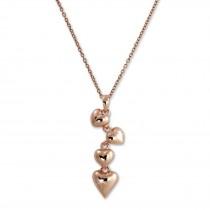 SilberDream Halskette mit Anhänger Herzen rose 44cm - 47cm 925 Silber SDK50644E