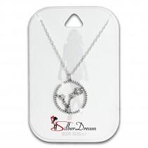 SilberDream Halskette Sternzeichen Fische 925 Silber 45cm Damen Kette SDK8503W
