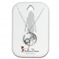 SilberDream Halskette Sternzeichen Skorpion 925 Silber 45cm Damen Kette SDK8511W