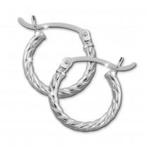 SilberDream Creole gedreht 15mm Damen Ohrring 925 Sterling Silber SDO0061J