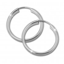 SilberDream Creole Glanz 25mm Ohrringe 925 Sterling Silber SDO0142