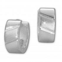 SilberDream Creole Schliff 925 Sterling Silber Ohrring SDO387J