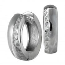 SilberDream Creole diamantiert 14mm 925 Sterling Silber Ohrring SDO392J