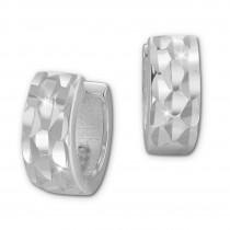 SilberDream Creole diamantiert 11mm 925 Sterling Silber Ohrring SDO393J