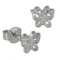 Teenie-Weenie Ohrstecker Schmetterling 925er Silber Kinder Ohrringe SDO407