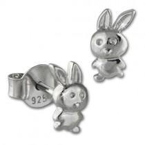 Teenie-Weenie Ohrstecker Häschen 925er Silber Kinder Ohrringe SDO408