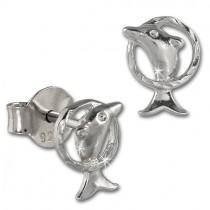 Teenie-Weenie Ohrstecker Delfin 925 Sterling Silber Kinder Ohrringe SDO411