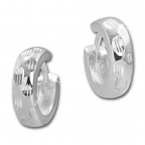 SilberDream Creole Dots 14mm 925 Sterling Silber Ohrring SDO4277J
