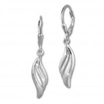 SilberDream Ohrhänger Welle 925 Sterling Silber Ohrring SDO4282J