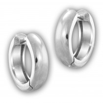 SilberDream Creole Glanz 15mm 925 Sterling Silber Ohrring SDO4299J