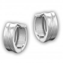 SilberDream Creole Line 15mm 925 Sterling Silber Ohrring SDO4301J