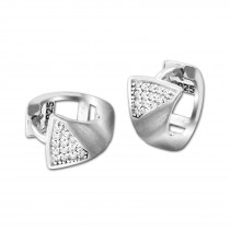 SilberDream Creole Elegance Zirkonia weiß 925 Sterling Silber Damen SDO4307W