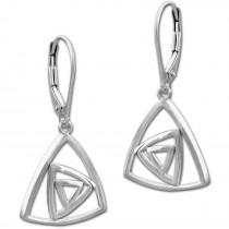 SilberDream Ohrhänger Dreiecke 925 Sterling Silber Damen Ohrring SDO4314J