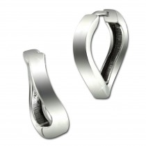 SilberDream Creole Welle 16mm 925 Sterling Silber Damen Ohrring SDO4331J