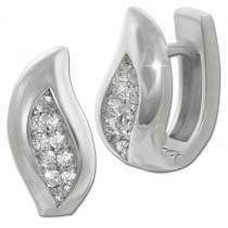 SilberDream Creole Leaf Zirkonia weiß 925 Sterling Silber Damen SDO4356W