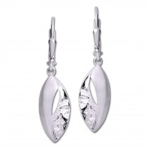 SilberDream Ohrhänger Leaf 925er Silber Damen SDO4389O