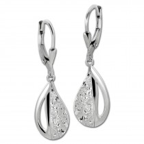 SilberDream Ohrhänger Drops 925er Sterling Silber Damen SDO4395O