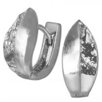 SilberDream Creole Blatt -matt, gehämmert- 925er Silber Damen SDO4402O