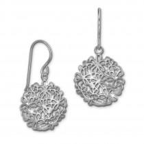 SilberDream Ohrhänger Blumemscheibe 925er Silber Damen Ohrringe SDO469J
