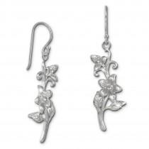 SilberDream Ohrhänger Blume Jasmin 925er Silber Damen Ohrringe SDO470J