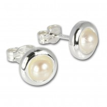 SilberDream Ohrringe Perle 925 Sterling Silber Ohrstecker SDO500