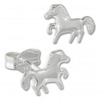 Kinder Ohrring Pferd 925er Sterling Silber Kinderschmuck TW SDO592J