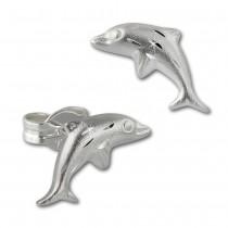 Kinder Ohrring Delfin 925er Sterling Silber Kinderschmuck TW SDO594J