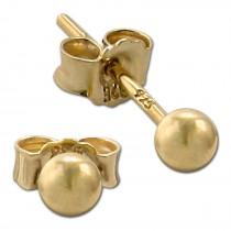 SilberDream Ohrringe Kugel 925 Sterling Silber vergoldet Ohrstecker SDO597Y3S