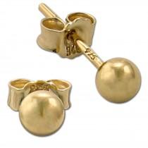 SilberDream Ohrringe Kugel 925 Sterling Silber vergoldet Ohrstecker SDO597Y4S